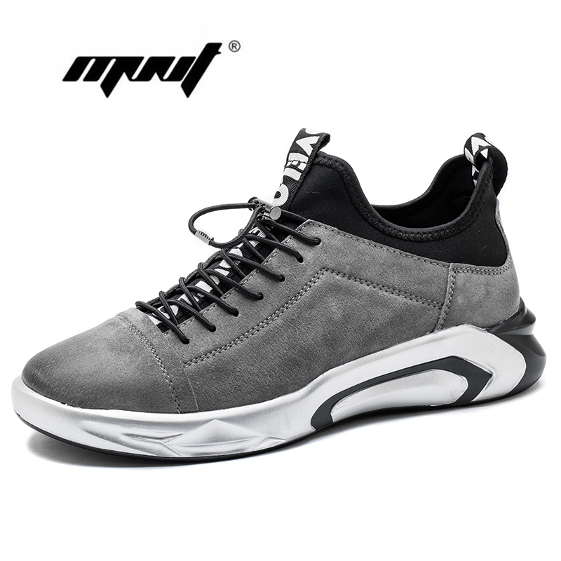 Cow Suede Leather Sneakers Rubber Non-slip Casual Shoes Fashion Lace Up Breathable Men Flats Shoes Breathable Men Shoes glowing sneakers usb charging shoes lights up colorful led kids luminous sneakers glowing sneakers black led shoes for boys
