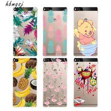 ФОТО cartoon for huawei p8 lite p8lite 2016 silicone tpu case clear fruit banana pineapple flamingo cute panda for p8 lite back cover