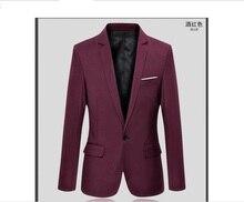 Мужские костюмы бизнес блейзер S-5XL-6XL прибытие случайные мужской формальный свадебные костюмы малых куртка с большой код молодежи костюм 3 цвета