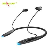 Original Zealot H7 Wireless Sports Bluetooth Headphones Magnetic Earbuds Neckband In Ear Noise Cancelling Running Earphones