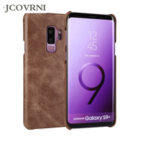 JCOVRNI 100 Leather Scrub For Galaxy S8 S9 Back Cover For Samsung Galaxy S8 S9plus Luxury