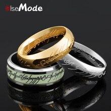 """ELSEMODE настоящее кольцо из нержавеющей стали """"Властелин одного"""", ФЛУОРЕСЦЕНТНОЕ светящееся кольцо для влюбленных женщин и мужчин, модное ювелирное изделие, Прямая поставка"""
