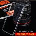 Teléfono case para apple iphone6 case lujo fundas iphone 6 s casos ultra thin tpu de silicona transparente cubierta suave para ipone 6 s case