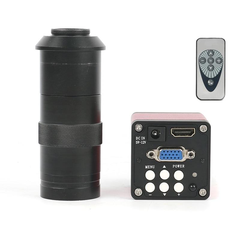 Version améliorée 14MP HDMI VGA HD industrie 60F/S caméra de Microscope vidéo 130X/180X/300X Zoom c-mount objectif + télécommande