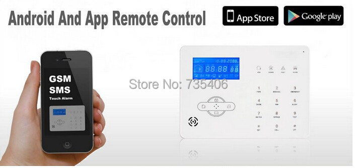 DIY KIT Drahtlose Alarm Dual netzwerk PSTN Und GSM Alarm System Smart Sicherheit Home Alarm System mit 32 drahtlose zone - 4