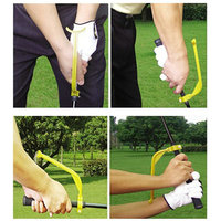 2PCS Lot Golf Practice Plane Swing Guide Trainer Training Wrist Correct Aid Tool Gesture Alignment Club