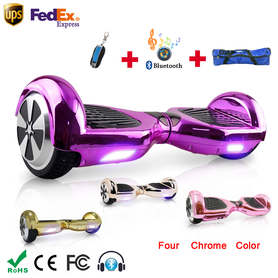 Electro scooter two wheel smart hoverboard bluetooth Chrome oxboard skateboard free shipping 2-6 days of delivery plated Colors kicx pdn 5 2
