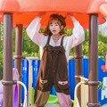 2017 новый мори девушка Живопись серия оригинальный дизайн цвет девушка симпатичные мягкие девушка комбинезоны с нагрудниками брюки женские