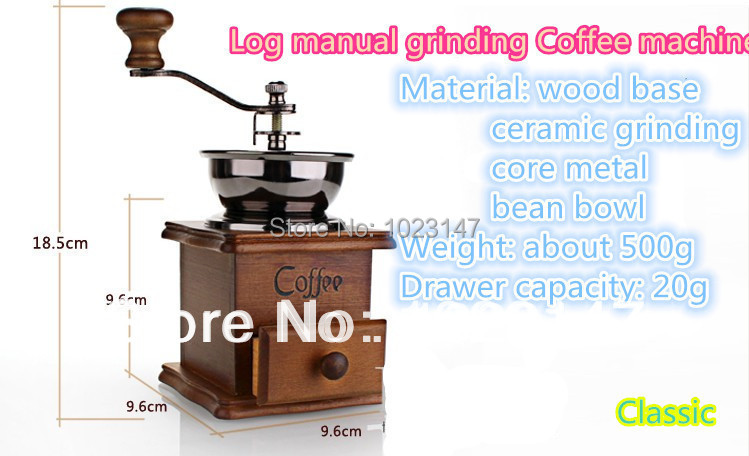 CLASSIC  Vintage Manual Coffee Grinder Pepper Coffee Bean Grinder Herb Mill Kitchen Tools For Spice Coffee Machine FREE SHIPPING abs plastic electric pepper spice sea salt mill grinder muller yellow
