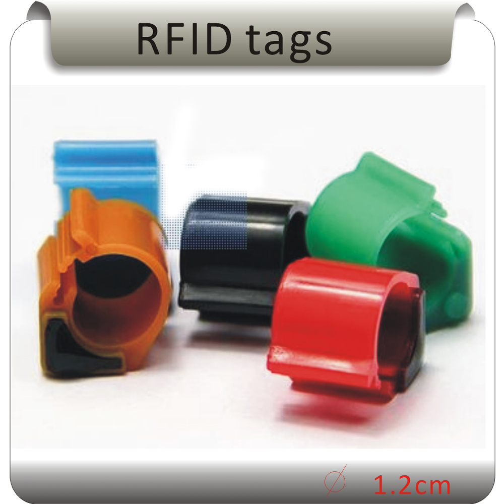 Free Shippig 100pcs Colors 125KHZ TK4100 Chip Card Footstags / Pigeons Ring Tag/chicken Foot RFID Tags