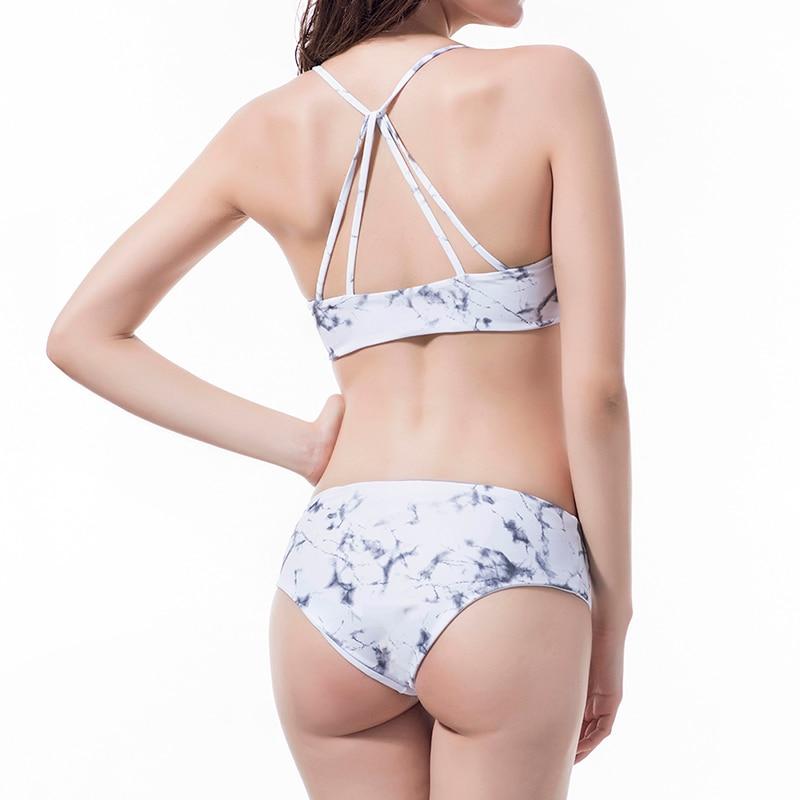 2018 Push Up New Young Girl Floral Print BathingSuit High Waist Bikini Halter Top Swimwear Women Sexy Bandage Two Piece Swimsuit