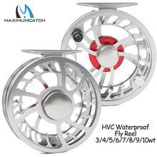 Maximumcatch Super Light HVC 3-10WT CNC Machine Cut Aluminum Fly Fishing Reel Large Arbor Fresh and Saltwater Fly Reel