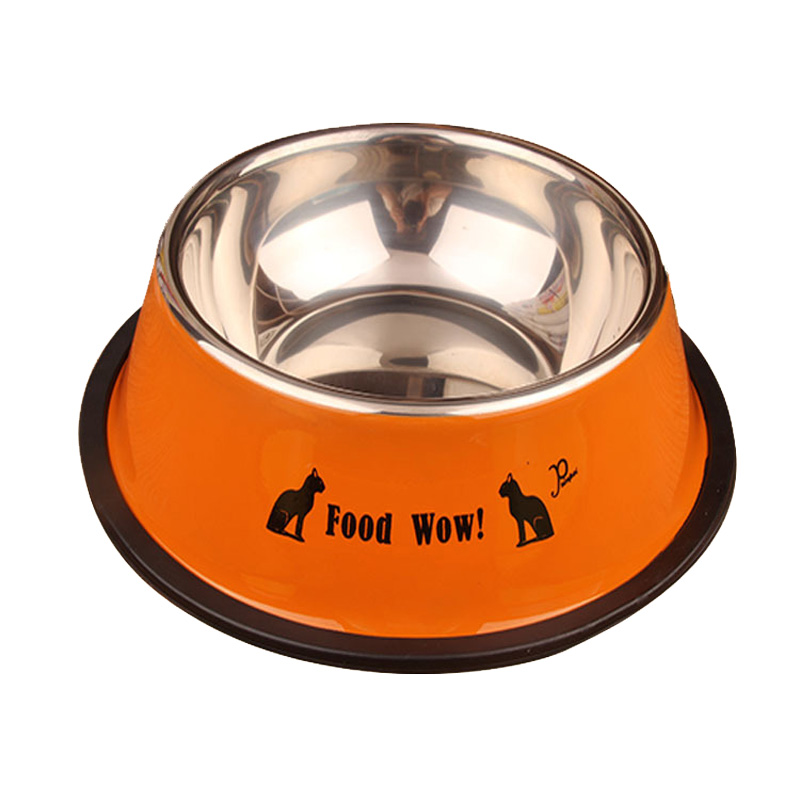 Cawayi Kennel Stainless Steel Single Pet Bowls For Dog Puppy Cats Food Water Feeder Pets Supplies Feeding Dishes Dogs Bowl D1367 #5