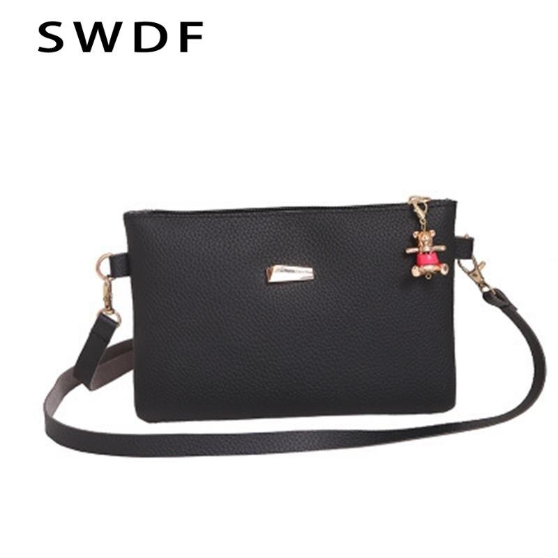 0c4c3a857680 Women New Bags Handbag Over Shoulder Sling Messenge Crossbody Leather  Envelope Clutch Black Designer Luxury Ladies Bolsas Small