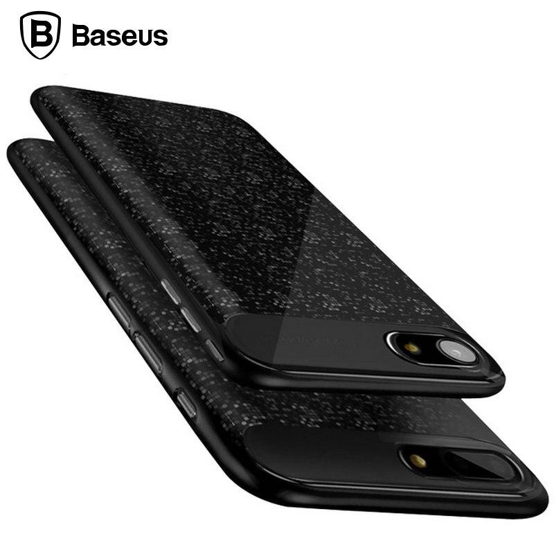 Цена за Baseus Внешняя Батарея Case Для iPhone 7 2500 мАч Ultra Slim Power Bank Case Cover Для iPhone 7 Plus 3650 мАч Зарядное Устройство случаях