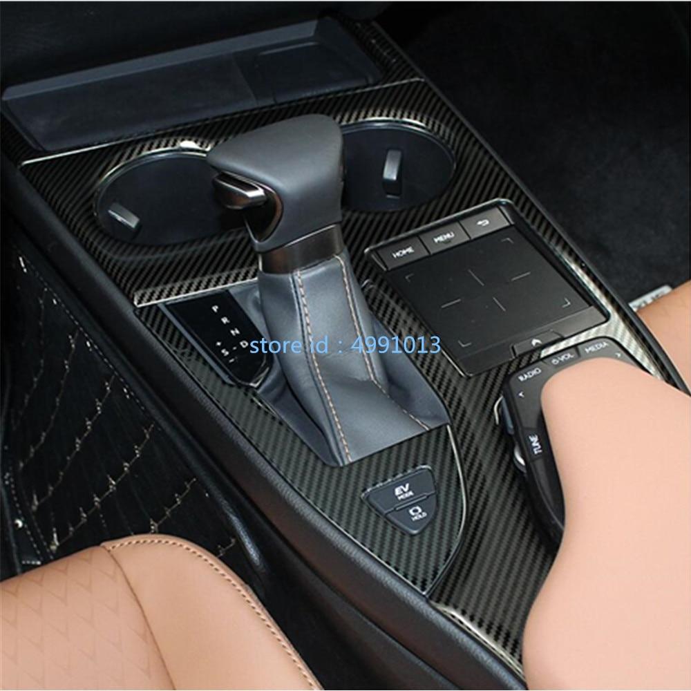 Bâton de voiture ABS à l'intérieur du centre de changement de vitesse intérieur palettes coupe interrupteur cadre lampe garniture 1 pièces pour Lexus UX 200 H 250 H 260 H 2019 2020