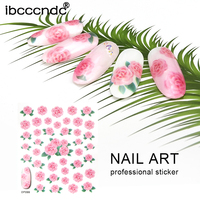 Beauty Floral Designs Nail Stickers Mixed Decals Water Transfer Sticker DIY Nail Art Decoration Flower Pattern