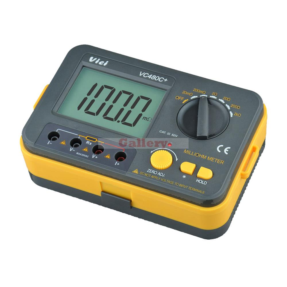 Cable Resistance Tester : Vici vichy vc c digital milli ohm meter