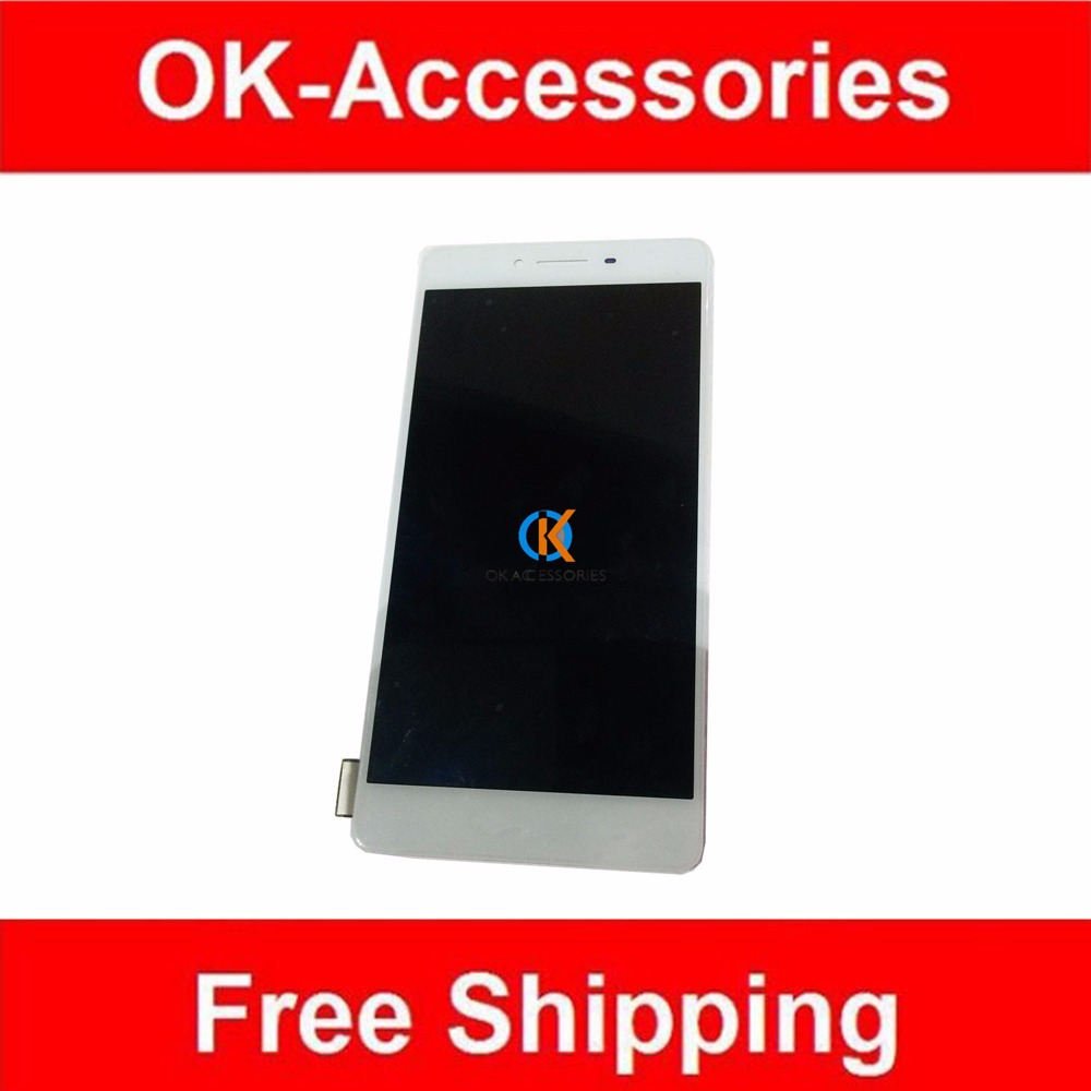 For OPPO R7S LCD Screen Display With Touch Screen Digitizer Assembly White Color 1PC/Lot