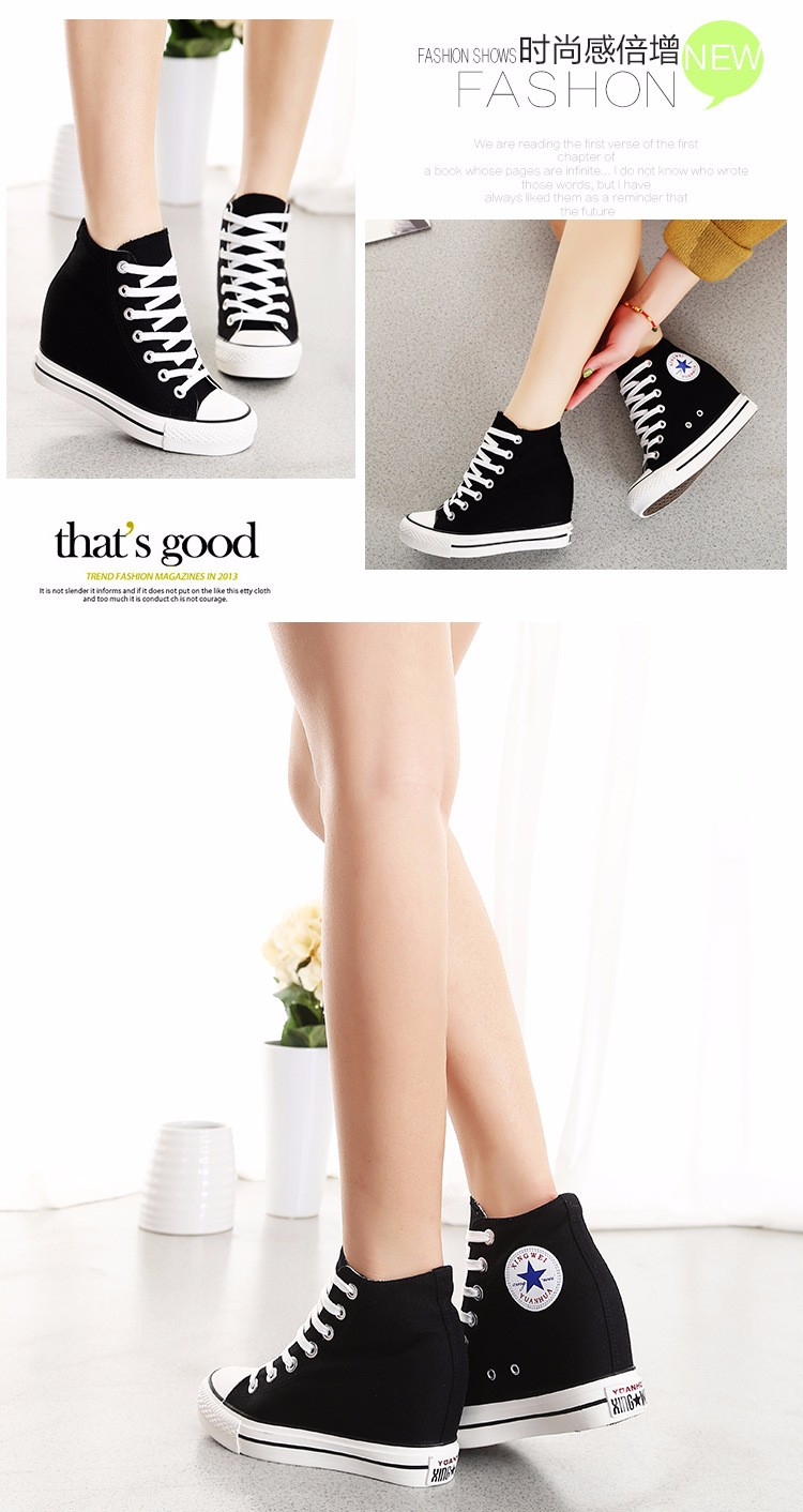 KUYUPP High Top Canvas Women Shoes Espadrilles Spring Autumn Womens Wedges Shoes Lace Up Casual Shoes For Female Sapatilha YD120 (17)