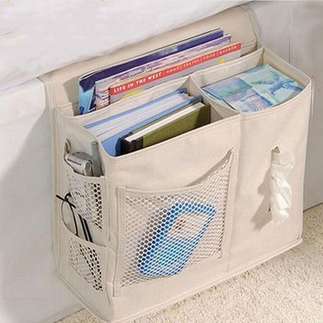 Multifunctional Bedside Hanging Storage Bag Magazines Books Phone Gl Bedroom Sundries Holder Organizer