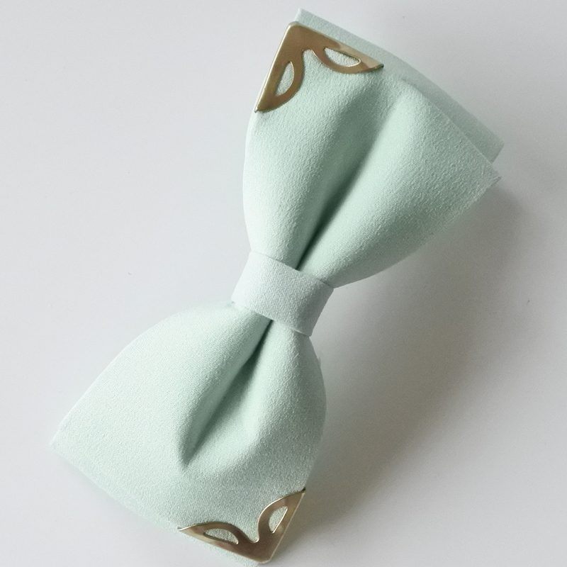solid color two layers hair bow