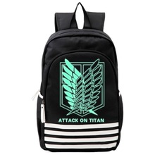 COSMORE Attack on Titan Schoolbags Noctilucous Luminous Notebook Daily Backpack Glow