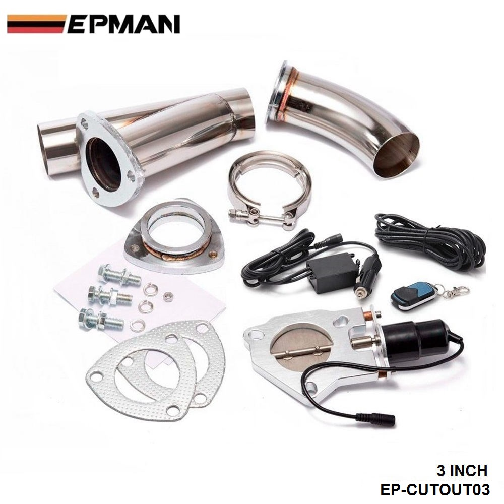 3 INCH EXHAUST CUTOUT ELECTRIC DUMP Y-PIPE CATBACK CAT BACK TURBO BYPASS STEEL For BMW 5 Series E39 525i EP-CUTOUT03 3 inch exhaust cutout electric dump y pipe catback cat back turbo bypass steel for toyota supra mk3 hu cutout03