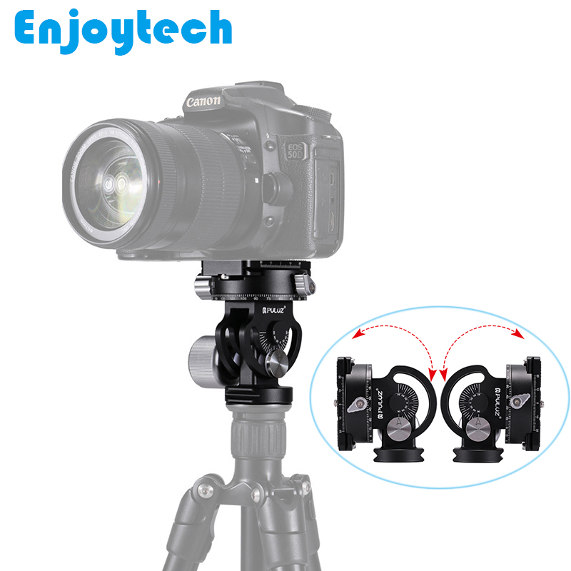 New Arrival 360 degree Panoramic PTZ Tripod Head With Quick Release Plate For Tripod Gimbal Base Stand for Watching Bird