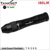 NEW TANK007 TK568 LED CREE Warm Yellow Light Gem Jewelry Dealer Appraise Working Tool Jade Flashlight Torch Free Shipping