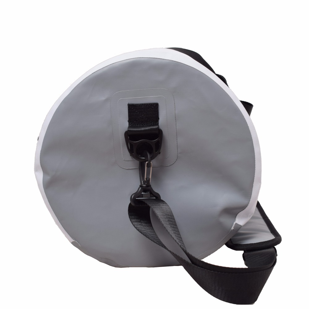 GZLBO 35L circle white travel bag OEM PVC Ultralight Fancy Folding Waterproof Travel Duffel Bag
