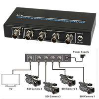 Без потерь на большие расстояния 100 м 4 Порты и разъёмы BNC SDI HD SDI 3g SDI бесшовные Switcher Масштабирование 4x1 коммутатор 1080 P + ИК пульт дистанционног