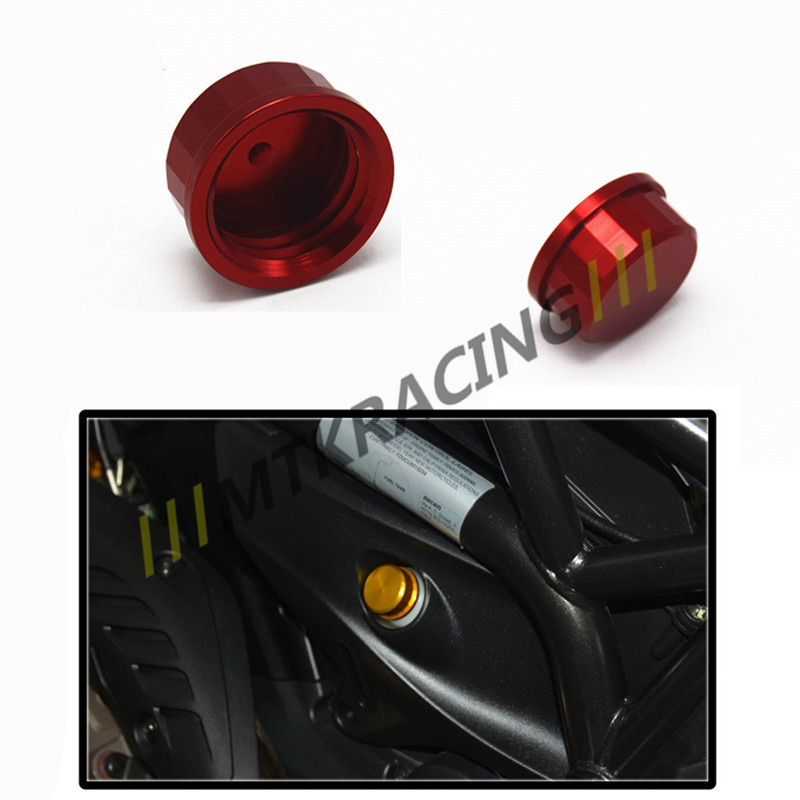 For ducati monster 821 696 796 2013-2016  Motorcycle Aluminum Rear Brake Reservoir Fluid Cover Cap motorcycle rear side view mirrors a pair brand new high quality for ducati monster 695 696 796 black