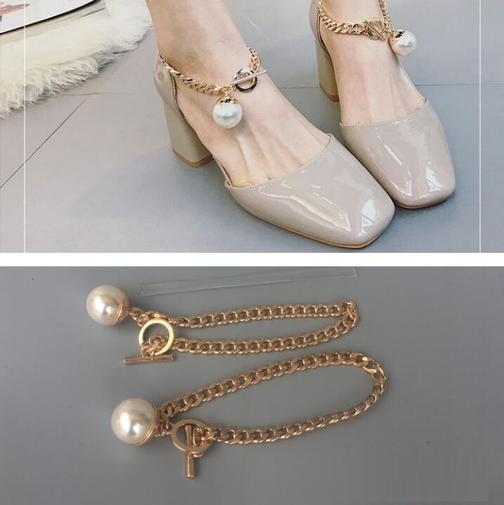 High Heel Schuhe Ausziehen Die Schuhe Zu Verhindern Fuß Schnalle Zubehör GroßE Auswahl; 1 Paare/los Perle Bohrer Sandalen