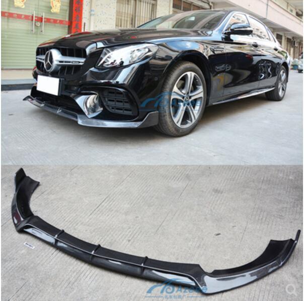 In Fibra di carbonio Labbro Anteriore Splitter Paraurti Grembiuli Tazza Flaps Spoiler Per Benz W213 E200 E260 E300 E63 E63S AMG 2016 -2019