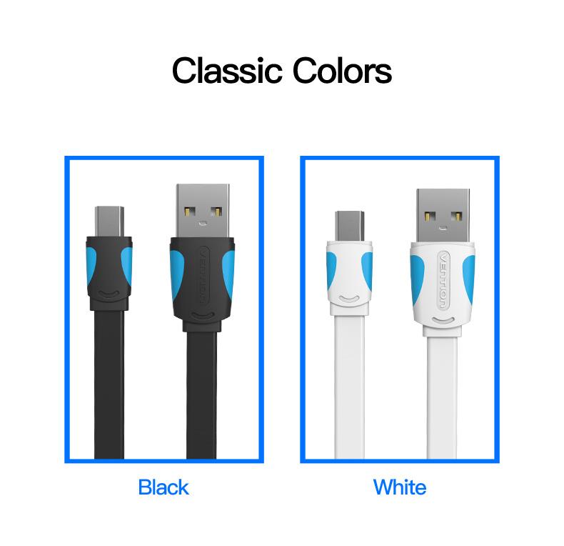 Vention Mini USB Cable 0.25m 0.5m 1m 1.5m 2m Data Sync USB Charger Cable For MP3 MP4 Player GPS Camera mobile phone Mini USB - ANKUX Tech Co., Ltd