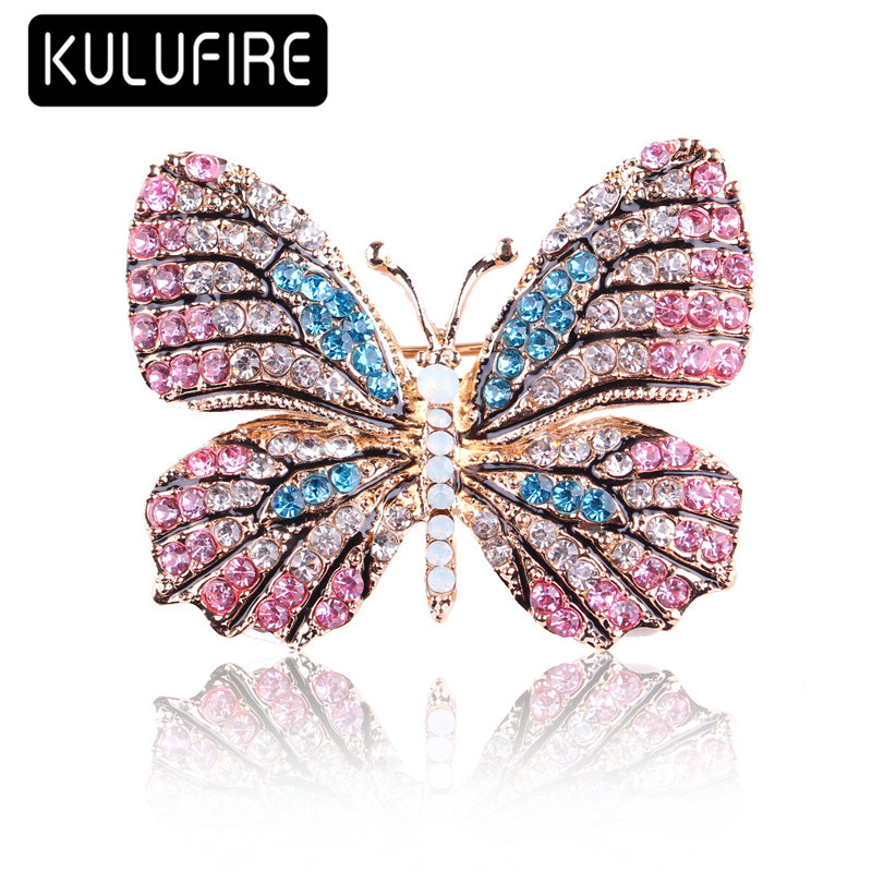 ULUFIRE color butterfly Brooches for women broche femme juego de tronos broschen broches animales mujer buho regalos de navidad