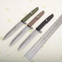 High quality 3 Color D2 Fixed Blade Outdoor Camping Hunting Survival Tactical Portable Straight Knives EDC Tools Carrying C81