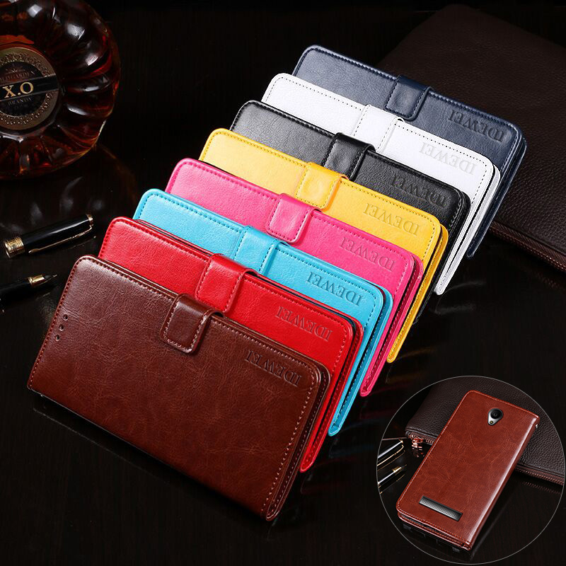 IDEWEI for Fly IQ4415 Case High Quality Stand Wallet Leather Flip Cover for Fly Era Style 3 IQ4415 Case Cellphone Accessories