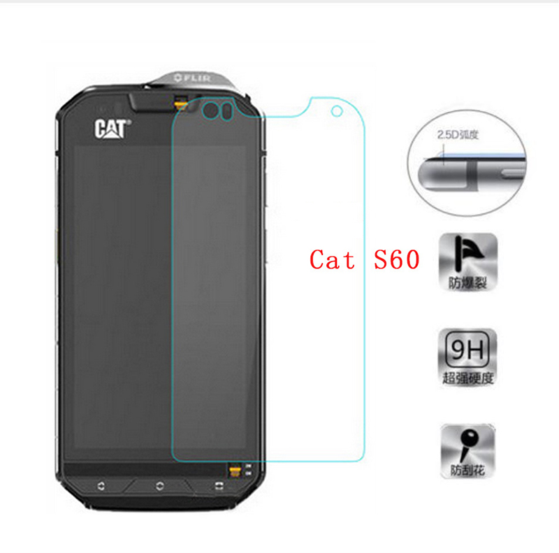 For Cat S60 Cover Tempered Glass Scratch Proof Premium Screen Protector LCD Front Film Case For Caterpillar Cat S60 Mobile Phone