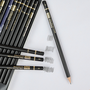 Image 5 - New 29pcs Sketch Pencil Set Professional Sketching Drawing Pencil Set Pencil Boxes Kit For Painter School Painting Art Supplies