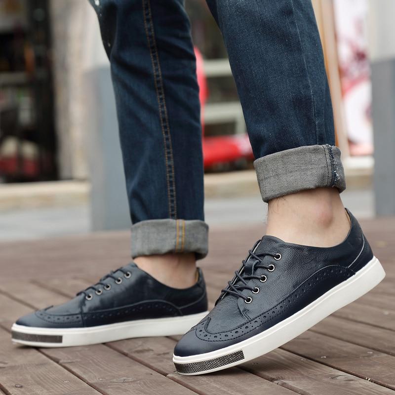 1 Sneakers Up Automne 2 De Marque Chaussures 3 Dentelle Krasovki Cuir Occasionnels Hommes Tenis Printemps En Luxe Mode Véritable FZAFqxU