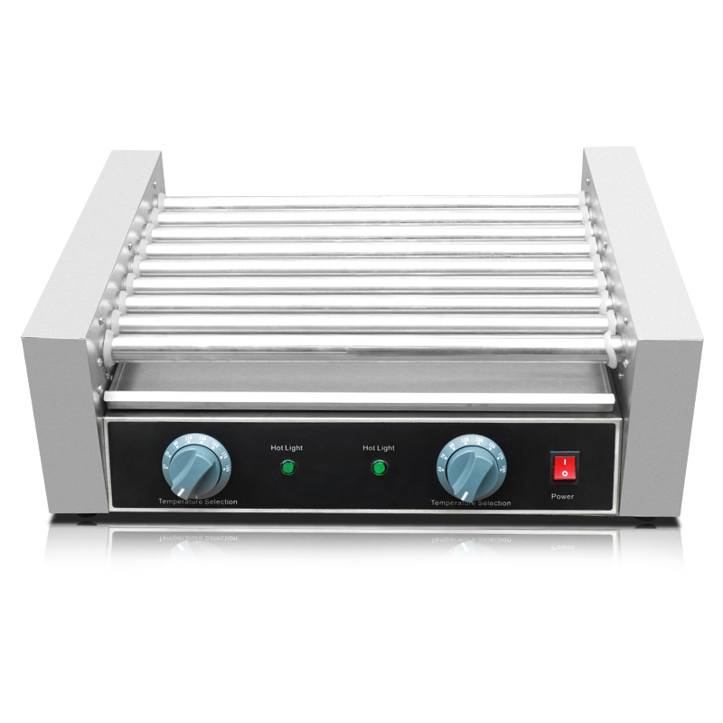 110/220V Commercial Electric Sausage Hot Dog Machine Hot Dog Stainless Steel 9 Rollar Grill Sausage Cooker EU/AU/UK/US Plug spacemutts the sausage dog of doom