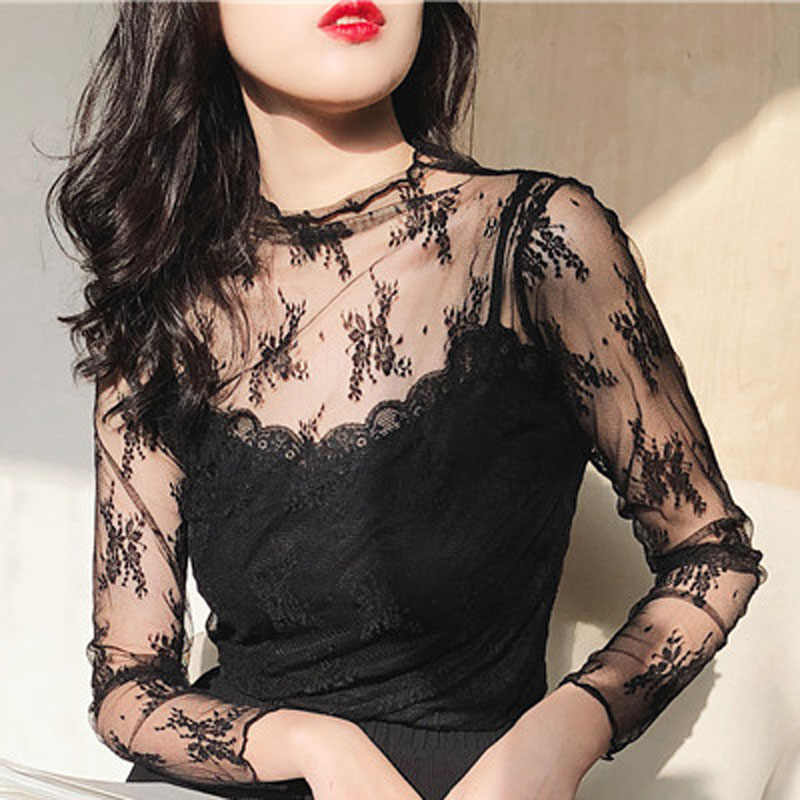 51b58831f4244d 2018 Sexy Women Nightgowns Lingerie Women Babydoll Sleepwear Transparnet  Lace Sleep Tops Sexy Home Sleep Wear
