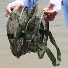 Sougayilang 4Size Portable Fish Net 3 Layer Round Folding Mesh Fish 25cm 35cm 42cm 50cm Cheap Fishing Net