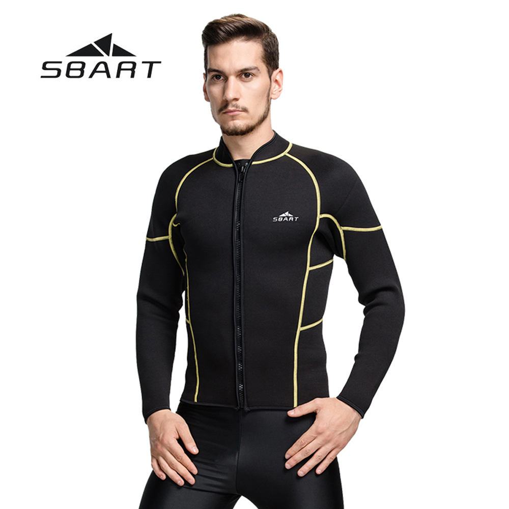 SBART Spearfishing Scuba Diving Rash Guard Swimwear Men Swimming Snorkeling Wetsuit Windsurfing Kite Surfing Jacket 3mm Neoprene sbart 3mm neoprene diving wetsuit men