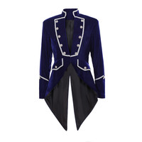 Cosplaydiy Medieval Men's Steampunk Tailcoat Jacket Velvet Gothic VTG Victorian Coat Costume L320
