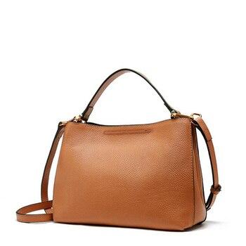 Women Genuine Leather Bag Ladies Handbag Women Shoulder Bag Messenger Bag Female Crossbody Bag Fashion Tote for Girls New 2019