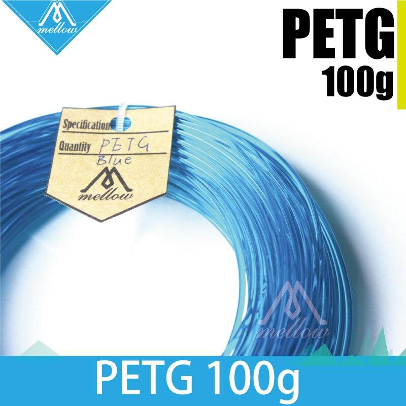 100g 3D PETG Filamento de Impressora 1.75/3.0 para Makerbot, Reprap, UP, Afinia, flash Forge e todas as Impressoras FDM 3D, Azul Semi-transparente