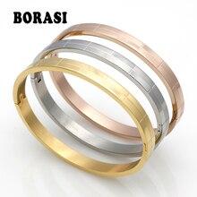 Fashion Tartan Cuff Bracelets For Women Gold Color Bracelet Stainless Steel Bracelets Bangles Men Jewelry wholesale